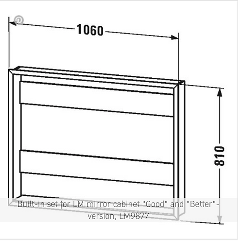 """Universal Light and mirror Built-in set for LM mirror cabinet """"Good"""" and"""
