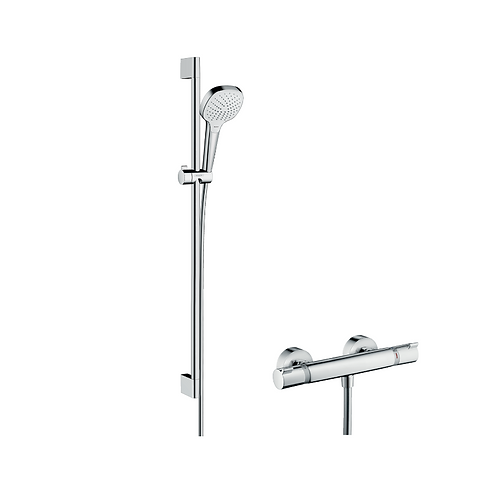 Hansgrohe Croma Select E Shower system 110 Vario with Ecostat Comfort thermostat