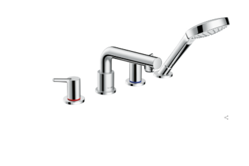 Hansgrohe Talis S 4-hole rim-mounted bath mixer