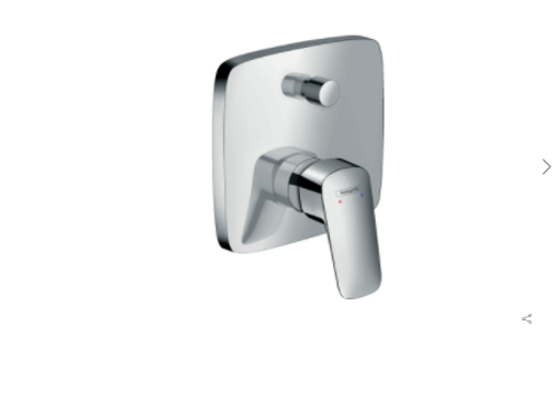 Hansgrohe Logis Single lever manual bath mixer for concealed installation