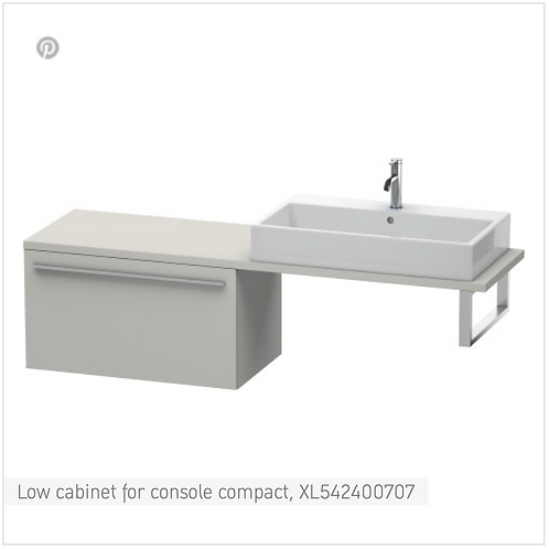 Duravit X-Large Low Cabinet For Console Compact 800mm x 478mm