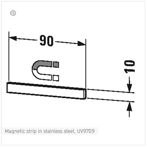 Accessories Magnetic strip in stainless steel
