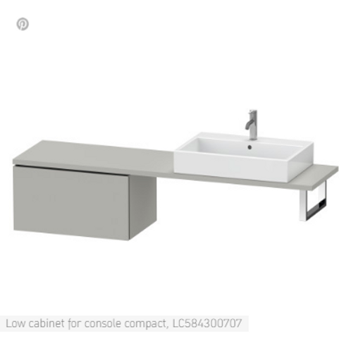Duravit L-Cube Vanity Unit For Console Compact 820mm x 477mm