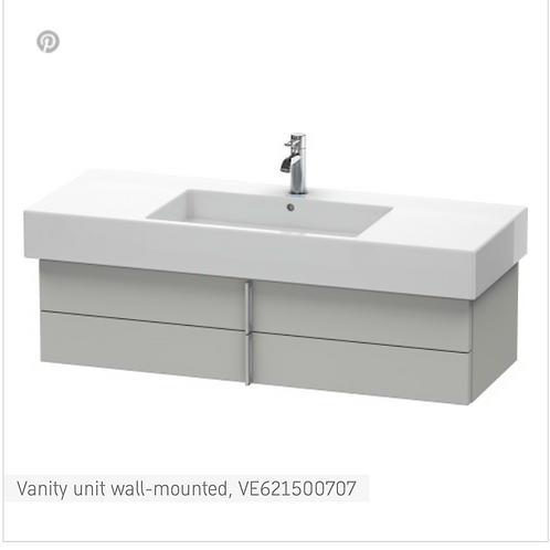 Vero Vanity unit wall-mounted 1200mm x 466mm