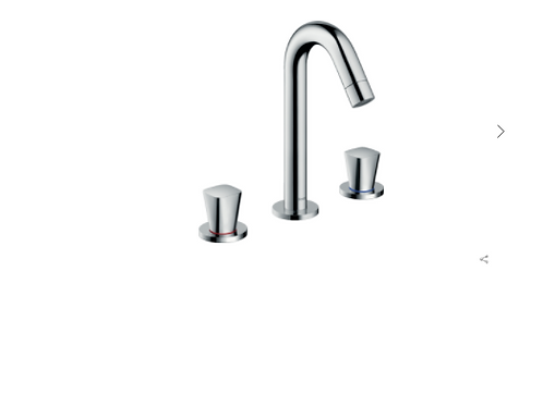 Hansgrohe Logis 3-hole basin mixer 150 with pop-up waste