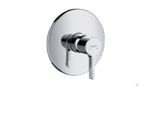 Hansgrohe Metris S Single lever manual shower mixer for concealed installation