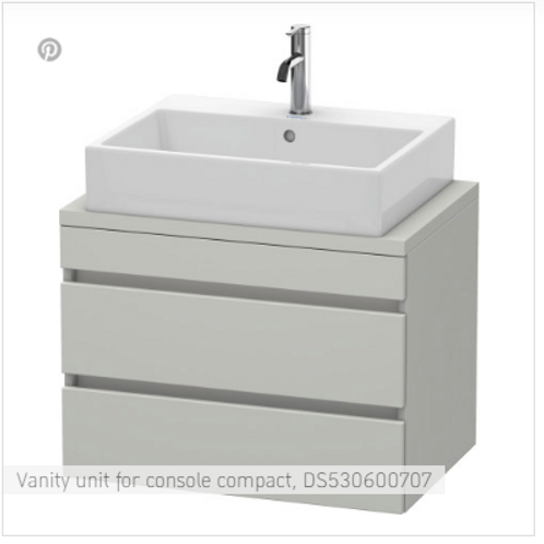 Duravit  DuraStyle Vanity Unit For Console Compact 700mm x 478mm