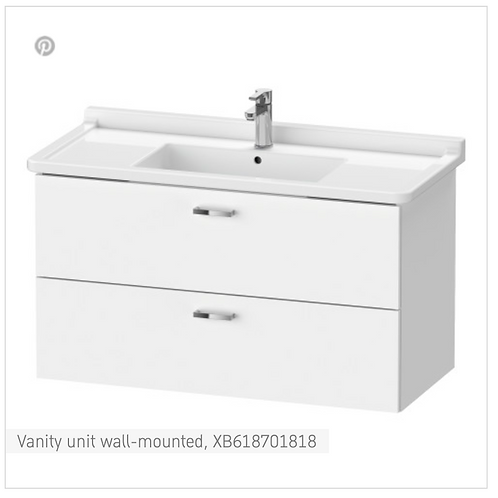 XBase Vanity unit wall-mounted 1000 x 468 mm