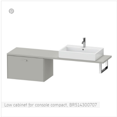 Duravit Brioso Low Cabinet For Console 820mm x 480mm