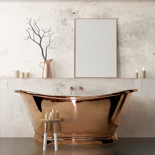 BC Designs Copper Boat Bath 1700mm
