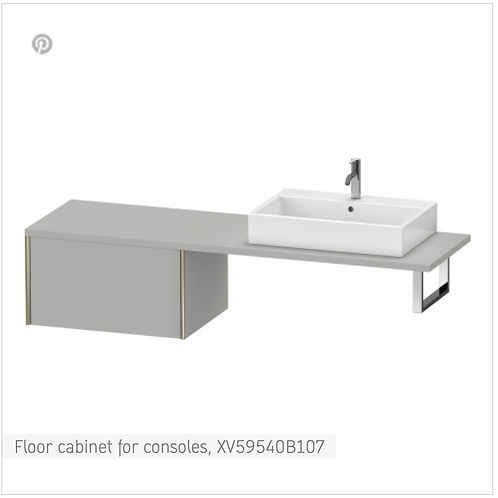 XViu Vanity unit for console 800mm x 548mm