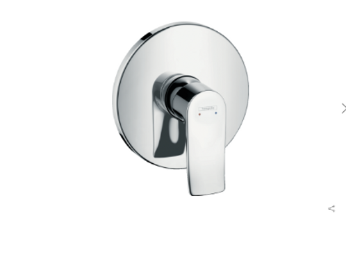 Hansgrohe Metris Single lever manual shower mixer round for concealed installati