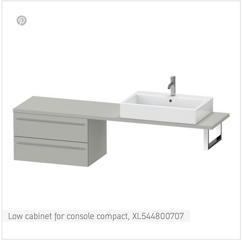 Duravit X-Large Low Cabinet For Console Compact 700mmx 478mm