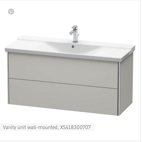 XSquare Vanity unit wall-mounted 1210 x 473 mm