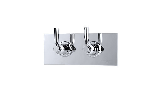 Perrin & Rowe Contemporary Concealed Thermostatic Shower Mixer and Shut-Off with