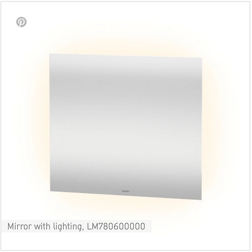 Duravit Universal Light And Mirror Mirror With Lighting 800mm x 33mm