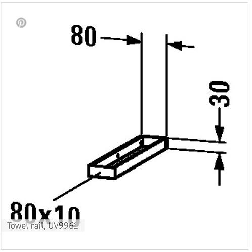 Accessories Towel rail 80mm x 412mm