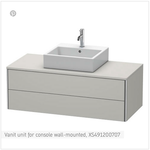 XSquare Vanit unit for console wall-mounted 1200 x 548 mm