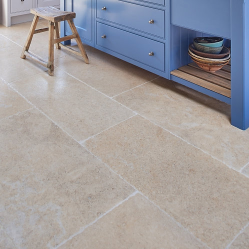 Calcot Limestone Tumbled Finish Spanish Pattern Price Per Sqm
