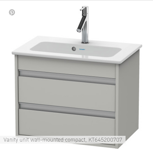 Duravit Ketho Vanity unit wall-mounted 600 X 385
