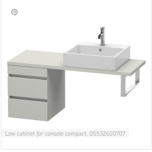 Duravit DuraStyle Low Cabinet For Console Compact 500mm x 478mm