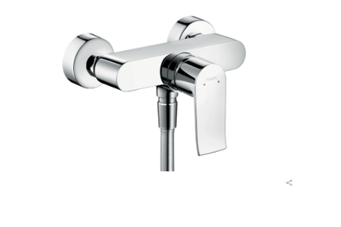 Hansgrohe Metris Single lever manual shower mixer for exposed installation