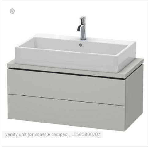 Duravit L-Cube Vanity Unit For Console Compact 1020mm x 477mm