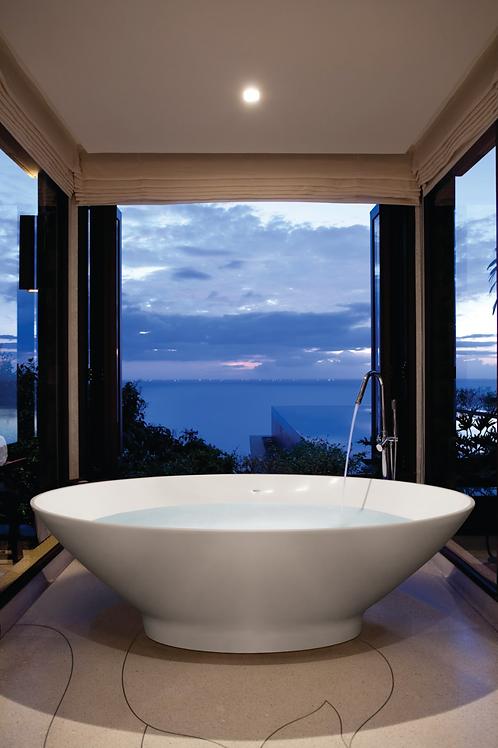 BC Designs Tasse Cian Solid Surface Bath 1770 x 880mm