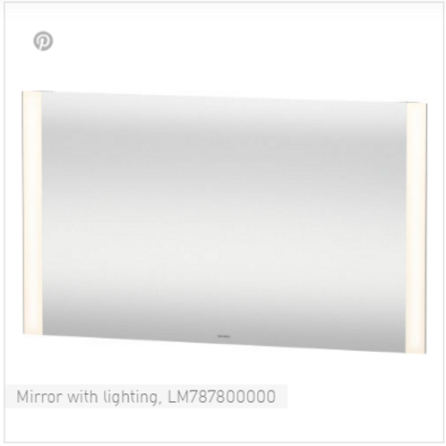Duravit Universal Light And Mirror Mirror With Lighting 1200mm x 34mm