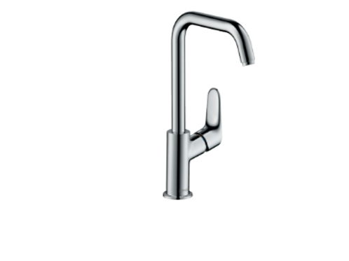 Hansgrohe Focus Single lever basin mixer 240 with swivel spout and pop-up waste
