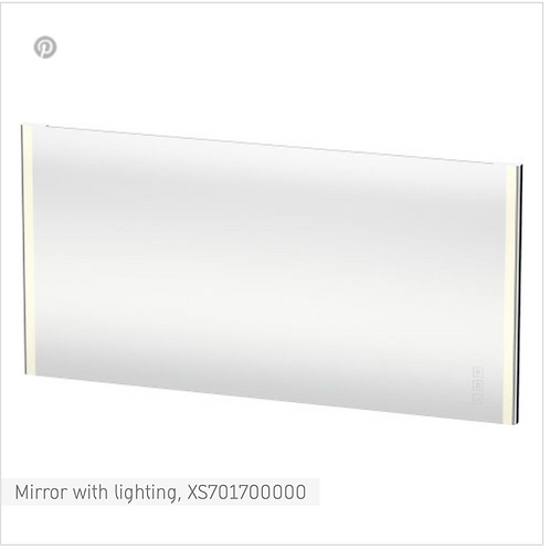 XSquare Mirror with lighting 1600 x 33 mm