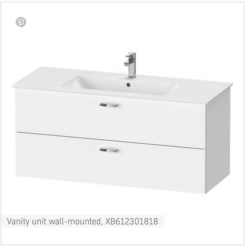 XBase Vanity unit wall-mounted 1200 x 475 mm