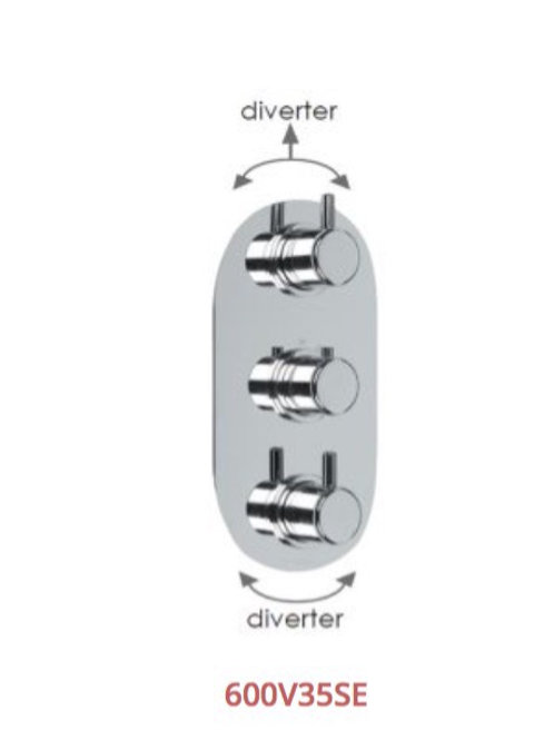 Cifial Technovation 35 3 Control Thermostatic Valve With Double Diverter