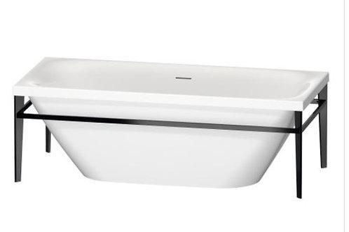 Duravit XViu Freestanding Bathtub With Metal Frame Black Matt 1800x8