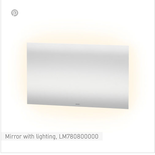 Duravit Universal Light And Mirror Mirror With Lighting 1200mm x 33mm