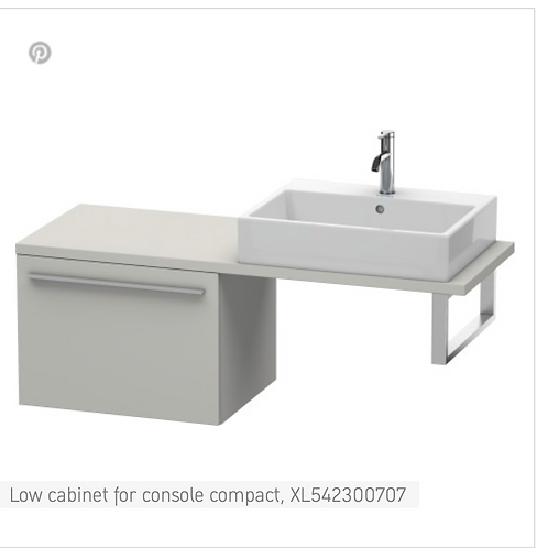 Duravit X-Large Low Cabinet For Console Compact 600mm x 478mm