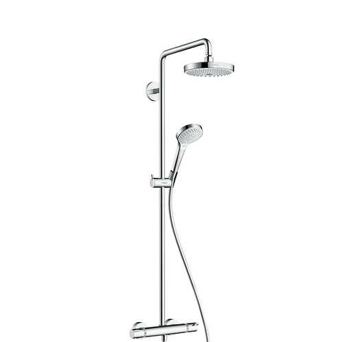 Hansgrohe Croma Select S Showerpipe 180 2jet with thermostatic shower mixer