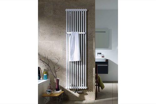 Zehnder White Charleston Bar Towel Radiator (Cloakroom Size)