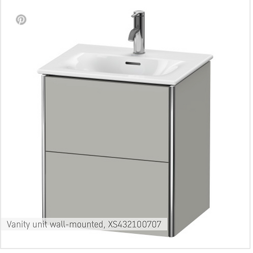 XSquare Vanity unit wall-mounted 510 x 418 mm