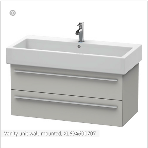 X-Large Vanity unit Wall Mounted 1150 x 443 mm