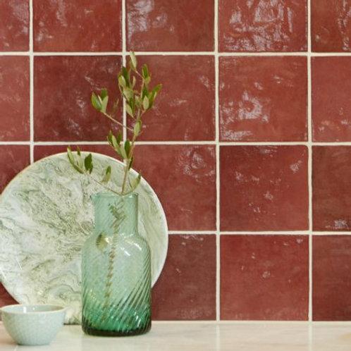 Bazaar Ceramic Burgundy 13.2 x 13.2cm Price Per Sqm