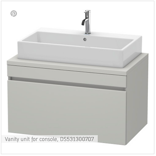 DuraStyle Vanity unit for console 900mm x 548mm