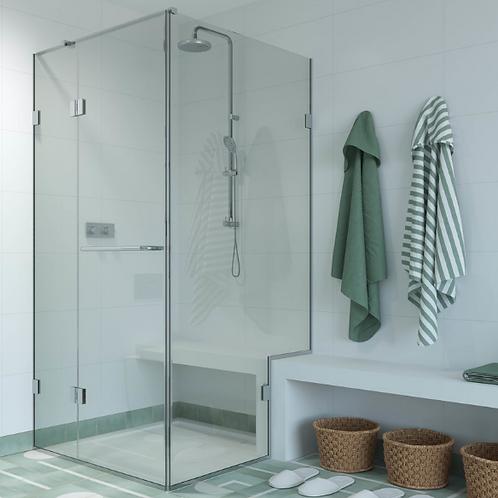Shower Lab - View 09 - Door And Inline Panel+Return Panel Bespoke 2000x1800mm