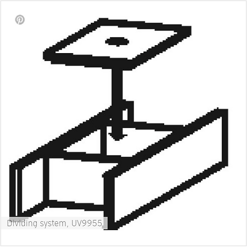 Duravit Dividing System 115 X 320 black diamond for vanity unit