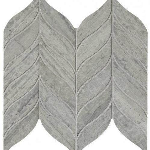Baobab Silver Blue Leaf Limestone Mosaic 32.8 x 38cm Price Per Sqm