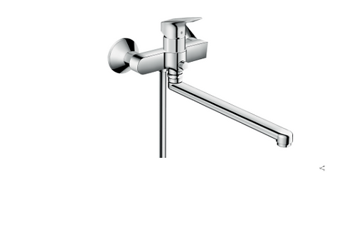 Hansgrohe Logis Single lever manual bath mixer with long spout