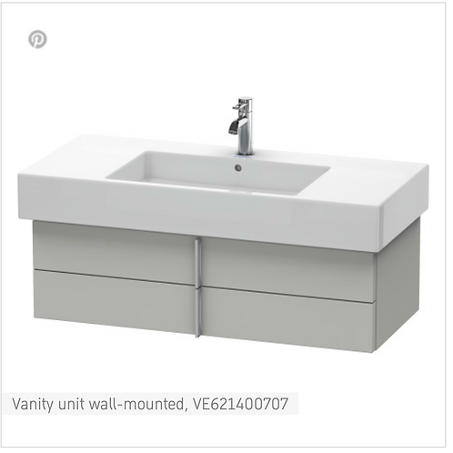 Vero Vanity unit wall-mounted 1000mm x 466mm