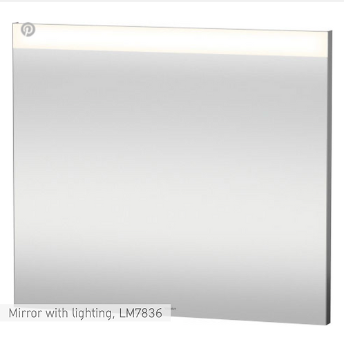 Universal Light and mirror Mirror with lighting 800 x 35 mm