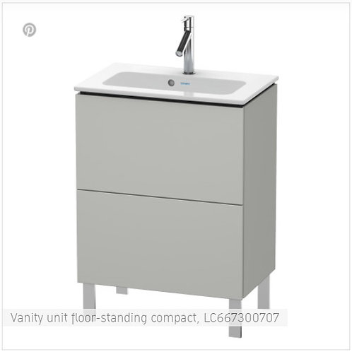 Duravit L-Cube Vanity Unit Wall Mounted Compact 820 x 391
