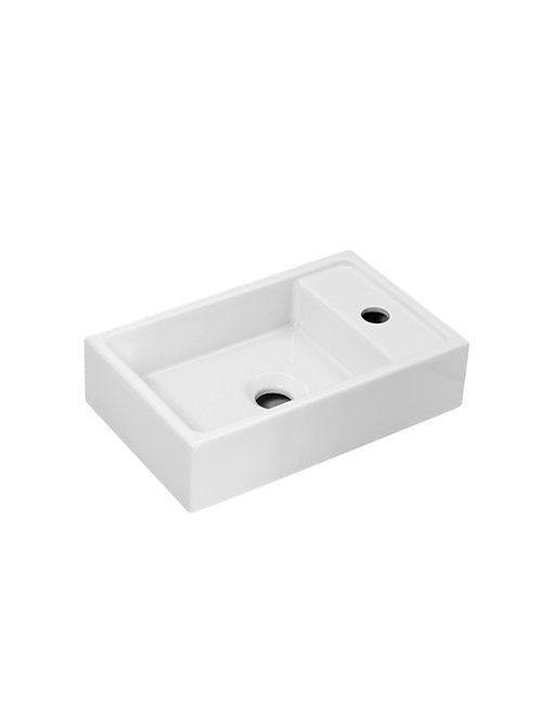 Cifial F5 Cloakroom Basin Left Hand Bowl 1 Tap Hole